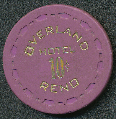 Overland Reno $.10 Chip Purple SCrown Mold 1962