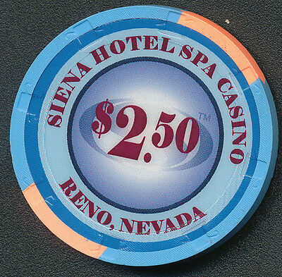 Siena Hotel Spa Casino Reno $2.50 Chip 2011