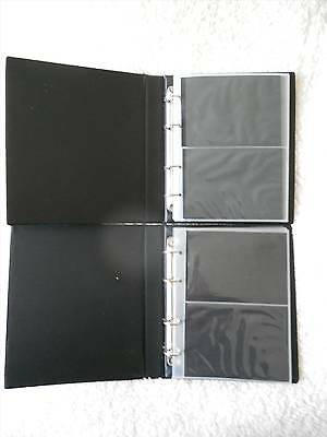 PAIR OF FILING ALBUMS FOR POSTCARDS or PHOTOS - PLEASE LOOK