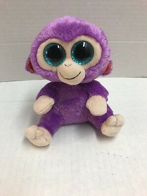"""TY beanie BOOS 6"""" Glitter Eyes 2015 Monkey GRAPES without Tag"""