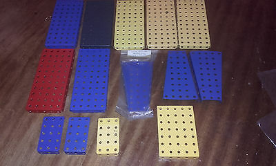 14  Item Collection Meccano Flanged/sector Plate(1 X Unused Pack)Mint Or Near