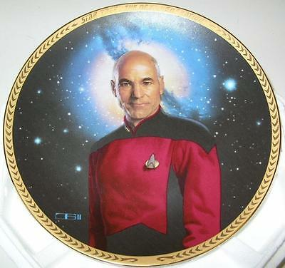 STAR TREK COLLECTOR PLATE next generation CAPTAIN PICARD NEW w/COA