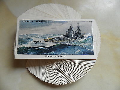 F/S 50 cards Players Modern Naval Craft Issued 1939 Cat.Val.£25.VG/EXCELLENT