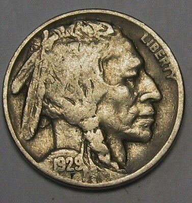1929 Buffalo Nickel Grading in the FINE Range Nice Original Coins