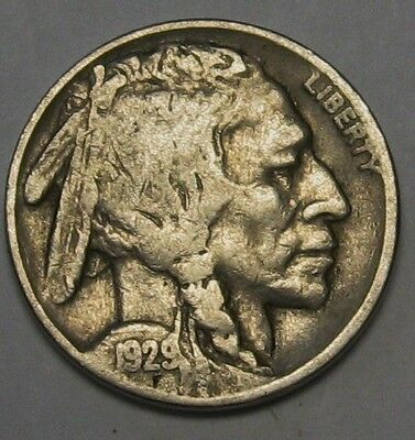 1929 Buffalo Nickel Grading in the VG Range Nice Original Coins 80 Available