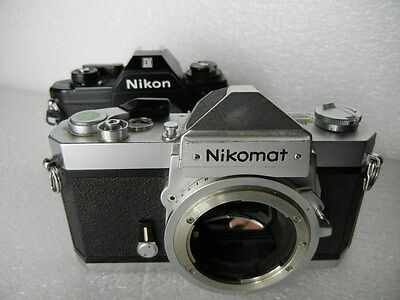Lot Of 2 Cameras Nikon Nikkormat Em 35Mm Parts Or Repair #10