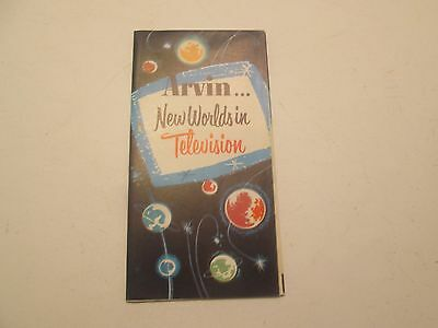 Arvin New Worlds In Television TV Brochure '50's