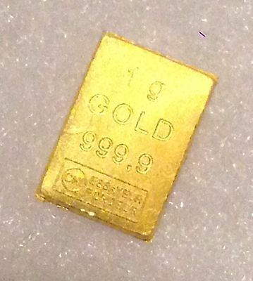 999.9 24K PURE GOLD BULLION  Valcambi / ESG 1gram part of CombiBarTM FREE Pouch