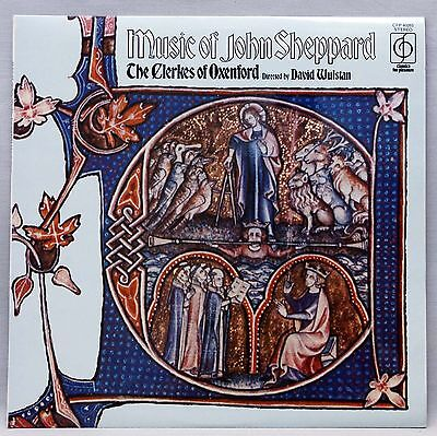 THE MUSIC OF JOHN SHEPPARD Classical LP The Clerkes Of Oxenford Stunning NM Copy