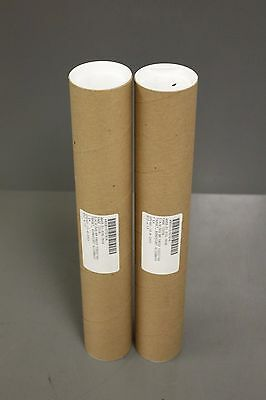 "Set of 2 S-12003 ULINE 2.5"" x 15"" Kraft Cardboard Tube with End Cap Mailing Tube"