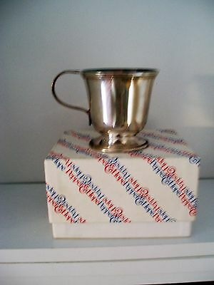 Vintage Hope & Pepper Silver Plate Christening Cup
