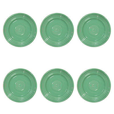 "6 Tuxton 6.25"" Cilantro Green Plates Concentrix Small Appetizer CTA-062 Bulk Lot"