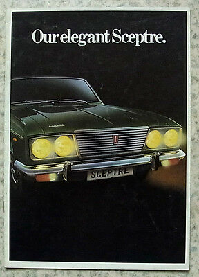 HUMBER SCEPTRE Car Sales Brochure July 1972 #C5041H/2/75