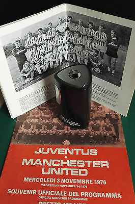 1976-77 JUVENTUS  vs. MANCHESTER UNITED   UEFA CUP 3-11-76 TABLE LIGHTER  AWARDE