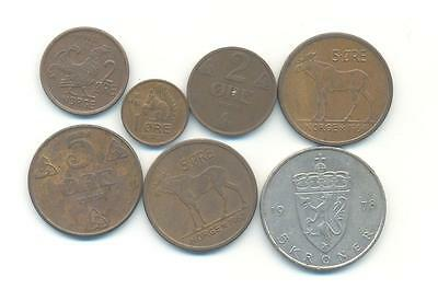 Very Nice Rare.mixed Lot Of Norway Coins Very Collectable.a.120