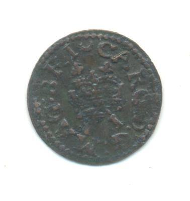 VERY RARE.Charles I. Farthing Ireland .12MM.VERY COLLECTABLE.T.52