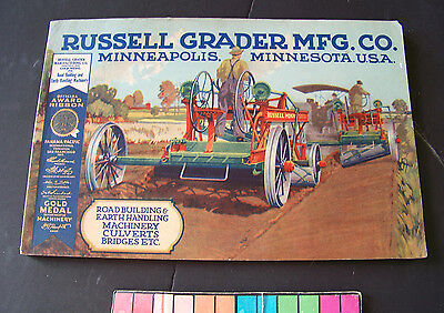Vintage Russell Road Equipment, Russell Grader Mfg. Co Minneapolis Color Catalog