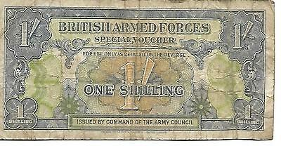 British Armed Forces One Shilling Banknote Voucher