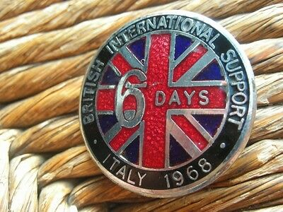 1968 British International 6 Days Italy Enamel Motorbike Badge