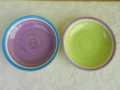 2 x Whittard Of Chelsea Large Salad Bowls Pasta Dishes GC