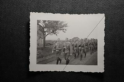 WW2 German Original Photo ( Troops On The Move. )