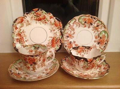 Antique, Vintage, 2 Trios, Mayer and Sherratt, Daisy Shape & Sutherland China