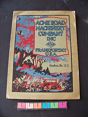 Early Acme Road Machinery Co Graders No. 12-C Brochure Frankfort NY