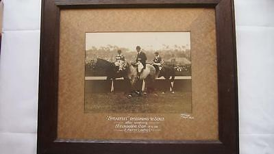 Extremely Rare 1926 MELBOURNE CUP - Original Photograph 'Spearfelt' Framed