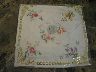 Unopened new pack of 6 Ladies Embroidered handkerchiefs