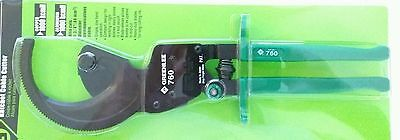Greenlee 760 Compact Ratchet Cable Cutter Up To #1000 Awg Nib