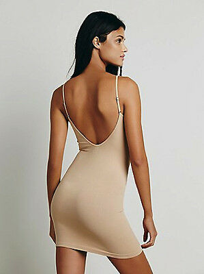 NEW Free People Intimately Seamless Low Back Slip Dress in Nude Sz M/L $39.73
