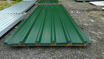 brand new 10ft long juniper green polyester coated box profile roofing sheets