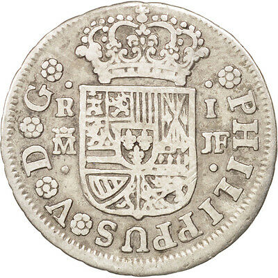 [#38003] SPAIN, Real, 1741, Madrid, KM #298, EF(40-45), Silver, 2.78