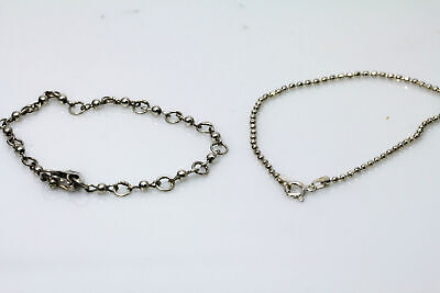 "Great Value on Lot of Two 925 Sterling Silver 7"" Bracelets (BR2358)"