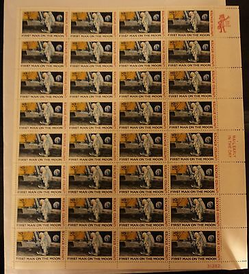 First Man on the Moon Air Mail Stamps Original Unmarked !!!