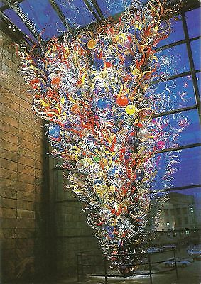 """Postcard Dale Chihuly """"Chihuly: Inside & Out"""" Joslyn Art Museum Omana NE MINT"""
