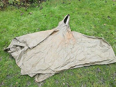 British Army Issue Olive Green Waterproof Poncho Supergrade