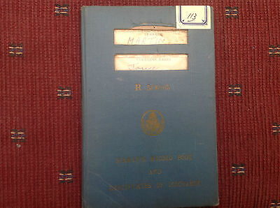 Seamans Record book and Certificates of Discharge 1949