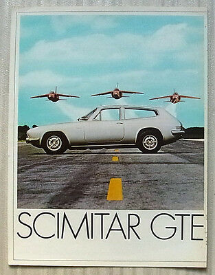 RELIANT SCIMITAR GTE Car Sales Brochure 1970