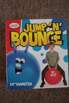 """Jump 'n' Bounce Ball--Red 24"""" New And Boxed"""