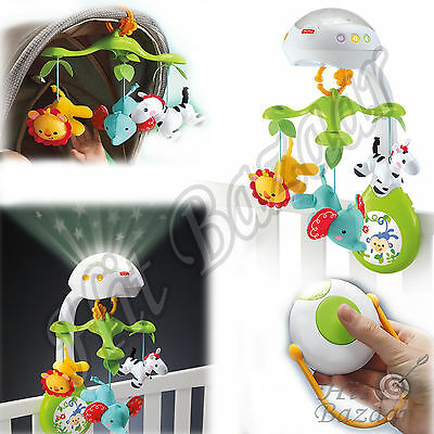 Musical Infant Toys Projection Mobile Baby Crib Nursery Light Soother Music