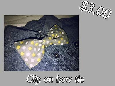 Handmade Baby-toddler Boys Clip On Bow Tie Party Fancy Polka Dot