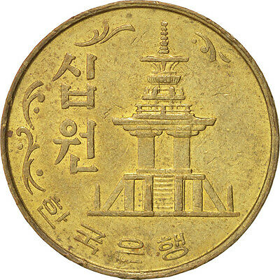 [#39204] KOREA-SOUTH, 10 Won, 1979, AU(55-58), Brass, KM:6a
