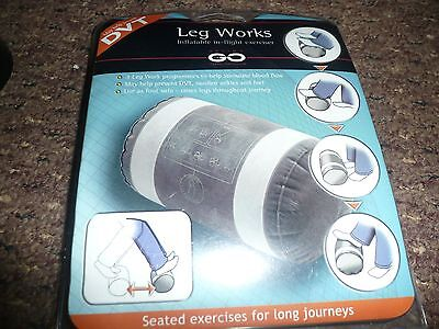 leg works Inflatable / inflight Leg Exerciser / new and packaged