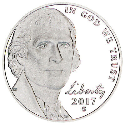 2017 S Jefferson Nickel Gem Deep Cameo Proof Coin