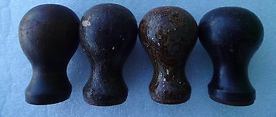 4 - FOUR Vintage Stanley Bailey 4 FRONT WOODEN HANDLES  spare parts