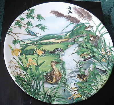 A Wedgwood Lmt/ed/ The Meandering Stream  Display Plate 1997 (139A)