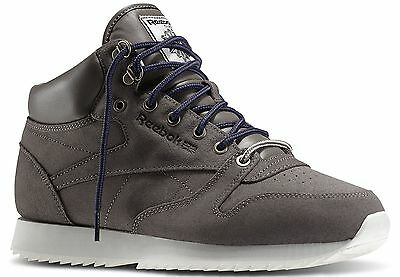 *** REEBOK - Classic Leather Mid Ripple - cuir Gris - taille 44.5 - Neuf