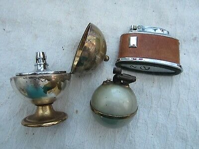 Three mixed vintage  table lighters.