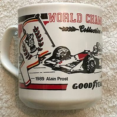 Official Goodyear World Champions Collection Series Mug Alain Prost